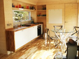 An image showing the luxury interior of Loch Ken Eco Bothies self catering accommodation eco retreat