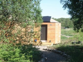 An image showing the exterior of a luxury lodge Loch Ken Eco Bothies self catering accommodation eco