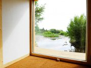An image showing the view from inside Loch Ken Eco Bothies self catering accommodation eco retreats